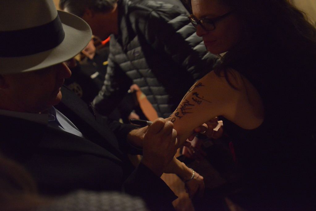 . Gina gets an autograph. Big Bad Voodoo Daddy played at the Stanley Hotel in Estes Park on Friday, March 1 and Saturday, March 2, 2019.