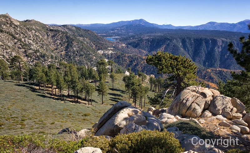 Above Big Bear Lake California