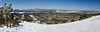 Panorama from the top of Geronimo<br /> <br /> Looking across Bear Valley. Big Bear lake on the left, Baldwin lake on the right, with the Mojave desert in the distance