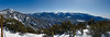 Panorama of Sugarloaf, Mt. San Gorgonio and 10,000 Foot Ridge<br /> <br /> Looking over the backside of the mountain from the top of Geronimo