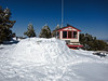 Ski patrol hut at the top of Geronimo<br /> <br /> An attempt at an iglo. It looked snug inside, if it only had a roof!