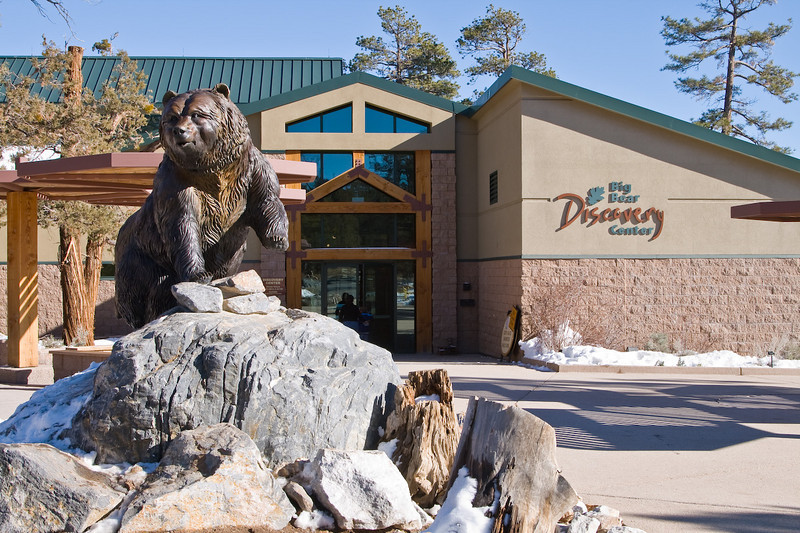 """The Big Bear Discovery Center -- a cool place to visit. <br /> <a href=""""http://www.bigbeardiscoverycenter.com/"""">http://www.bigbeardiscoverycenter.com/</a><br /> <br /> Lots of good info on things to do in Big Bear. Books, Maps, Tours and the usual tourist items.<br /> <br /> There is a nice interpretive trail that starts from the parking lot. The Cougar Crest trail head is a half-mile down the road from here. It is a very nice hike with excellent views of the lake and valley."""