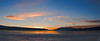 Sunset on frozen Big Bear Lake