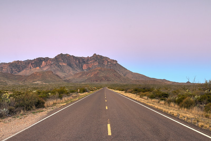 Road in Big Bend
