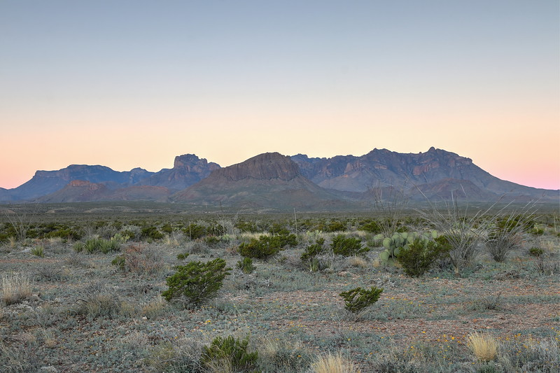Chisos Mountains from the west