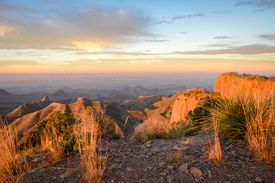 South Rim of the Chisos Mountains at sunrise.
