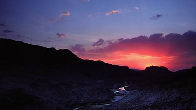 Rio Grande River at sundown