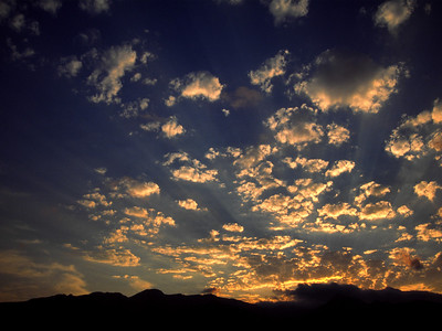 Sunrise over the Chisos Mountains in Big Bend National Park