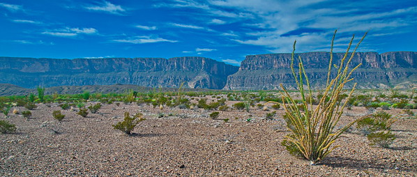 There was a constant haze in the park. That's Santa Elena Canyon in the background.
