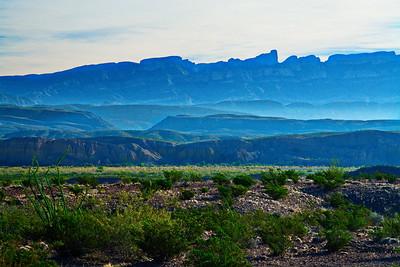 Sierra del Carmen Cliffs in the Morning Haze