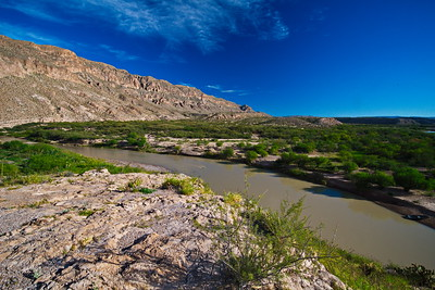 Rio Grande River flowing into Boquillas Canyon