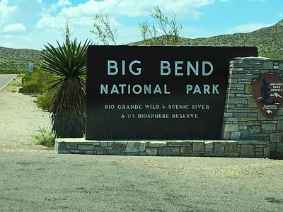 Big Bend National Park sign on US385 from Marathon