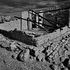 Terlingua Ghosttown ruins in B&W