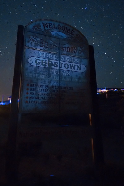 Welcome Sign to Terlingua Ghosttown