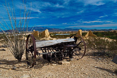 Terlingua Ghostown and old horse drawn plow