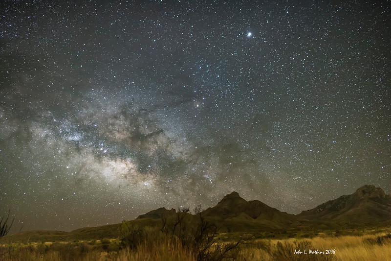 Milky Way Over Mountains at Big Bend