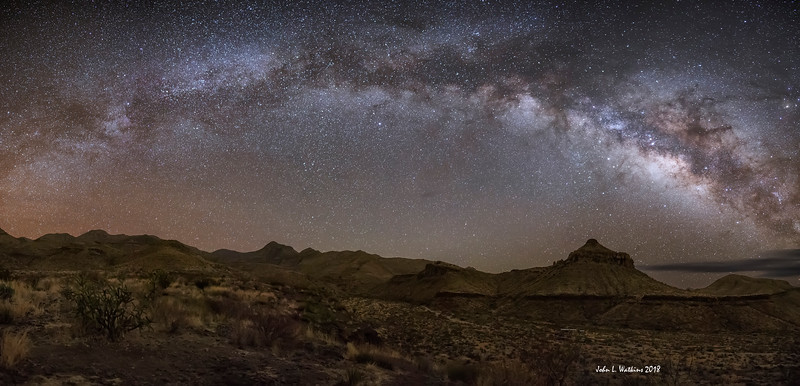 Milky Way Arching Over Homer Wilson Ranch