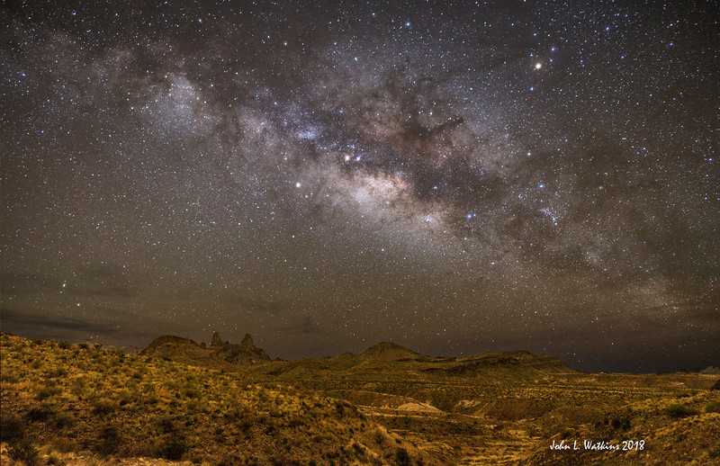 Milky Way Over Mules Ears