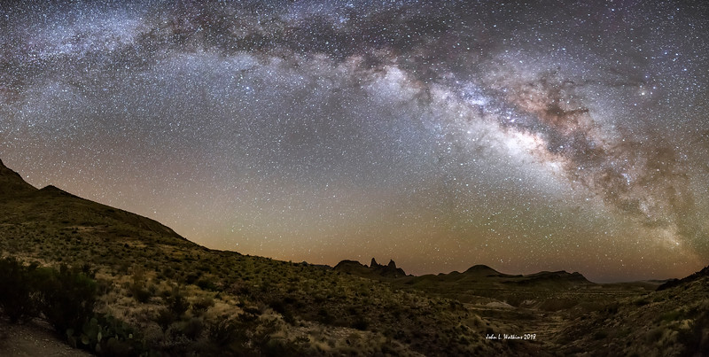 Milky Way Panorama Over Mules Ears