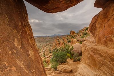 Window view inside Balanced Rock