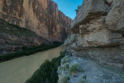 Santa Elena Canyon From Ledge overlook.