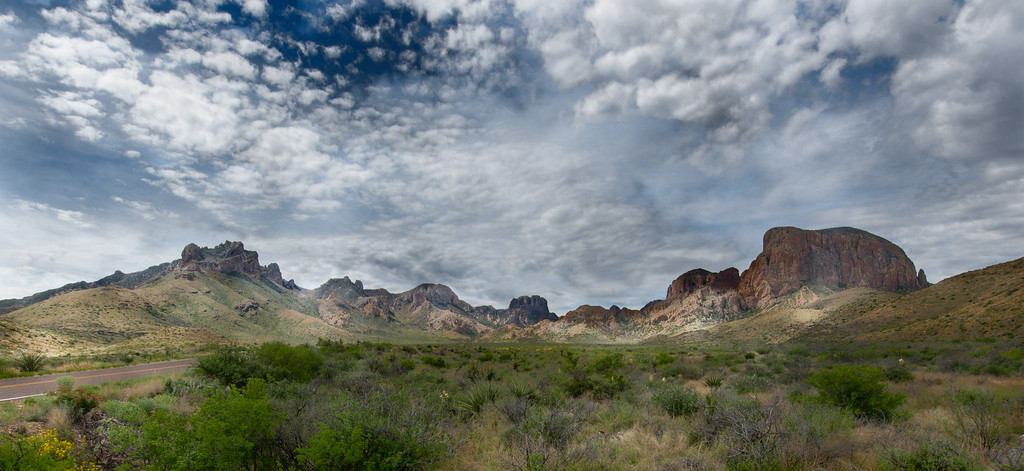 Chisos Mountains in the early morning