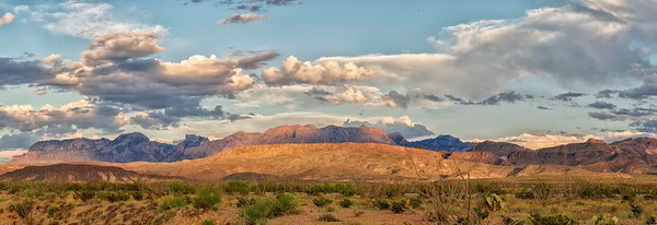 Chisos Mountains from 118