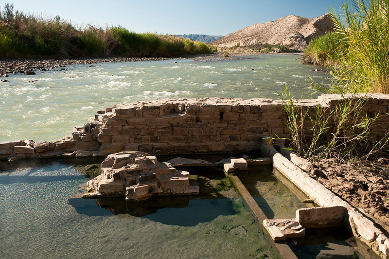 Hot Springs at Edge of Rio Grande River