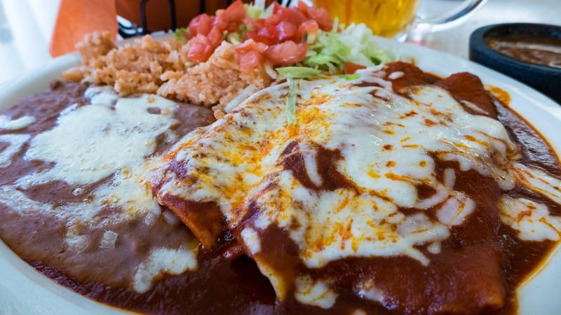 Enchilada dinner from El Patio, Presidio, TX