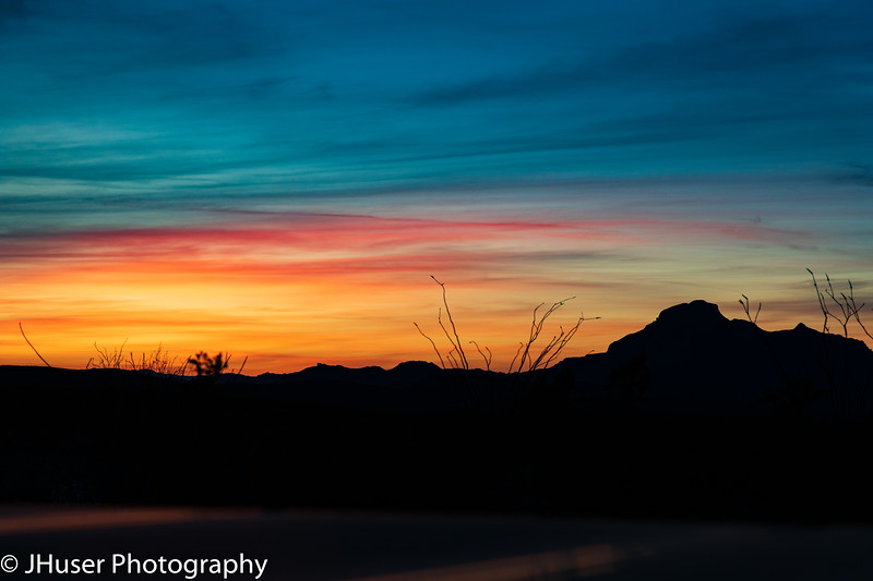 Sunset in Big Bend NP