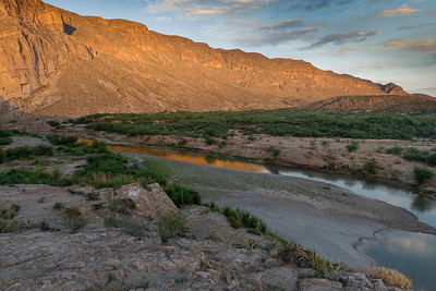 Boquillas Canyon at Sunset