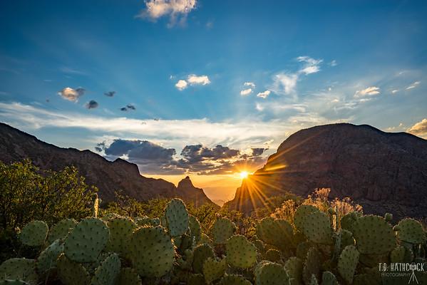 The Window at Chisos Mountain Basin, sunset