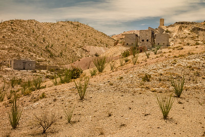 Cinnabar mine started in 1930 to harvest mercury ore that was sent in brick form by mule to Terlingua for smelting into mercury. Now abandoned.