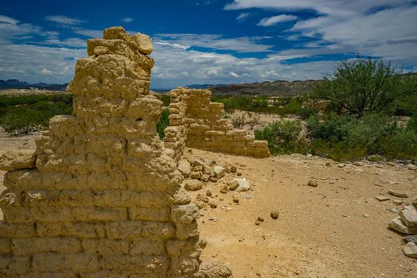 Crumbing Walls in the Sun. Terilingua Ghost Town