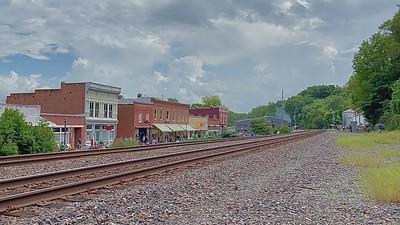 Union Pacific 4014 through New Haven, Missouri.