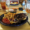 Lunch.  Pulled pork platter.  It was great.
