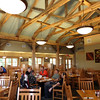 Lake Hope Lodge, SR 278, near McArthur OH.  Kickass state park restaurant.  Awesome view.  Good food.  Inexpensive.  Eat there!