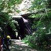 Kings Hollow Tunnel.  The upper portion is overexposed, but it's a giant rock face.