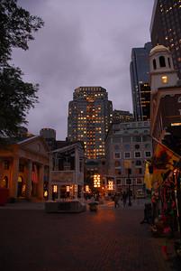 A beautiful evening downtown.