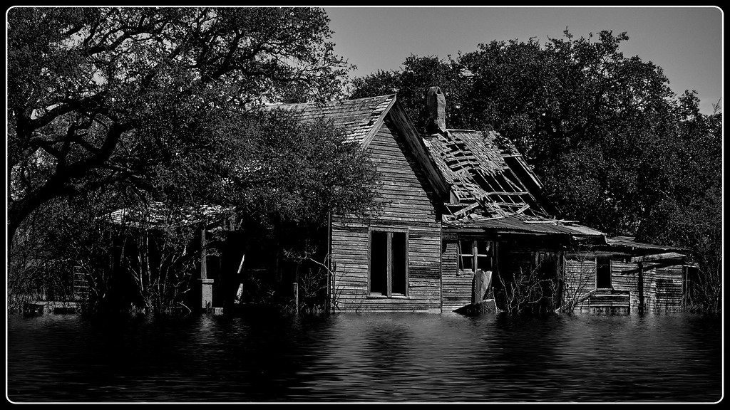 Old House Fantasy in B&W