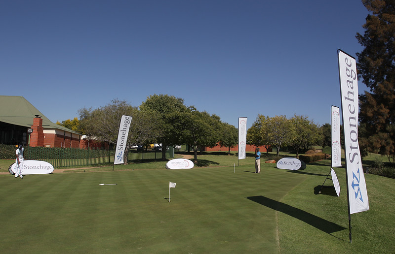 PRETORIA, SOUTH AFRICA - April 11, Branding during day 2 of the Big Easy Tour Roodepoort from Roodepoort Country Club on April 11, 2013 in Pretoria, South Africa<br /> Photo by Luke Walker / Sunshine Tour