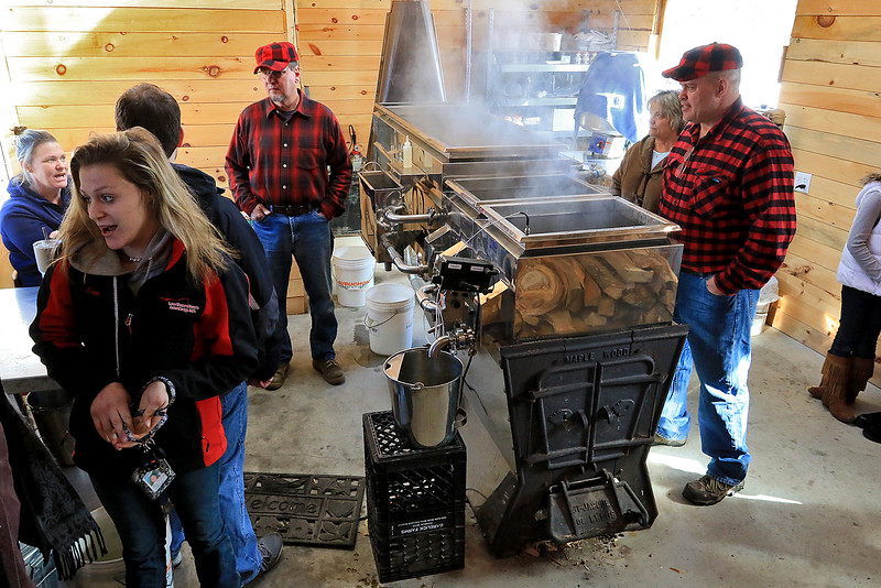 Big Head Fred's Maple Syrup in Leominster was boiling syrup at their sugarhouse for the first time this year on Sunday, March 3, 2019. SENTINEL & ENTERPRISE/JOHN LOVE