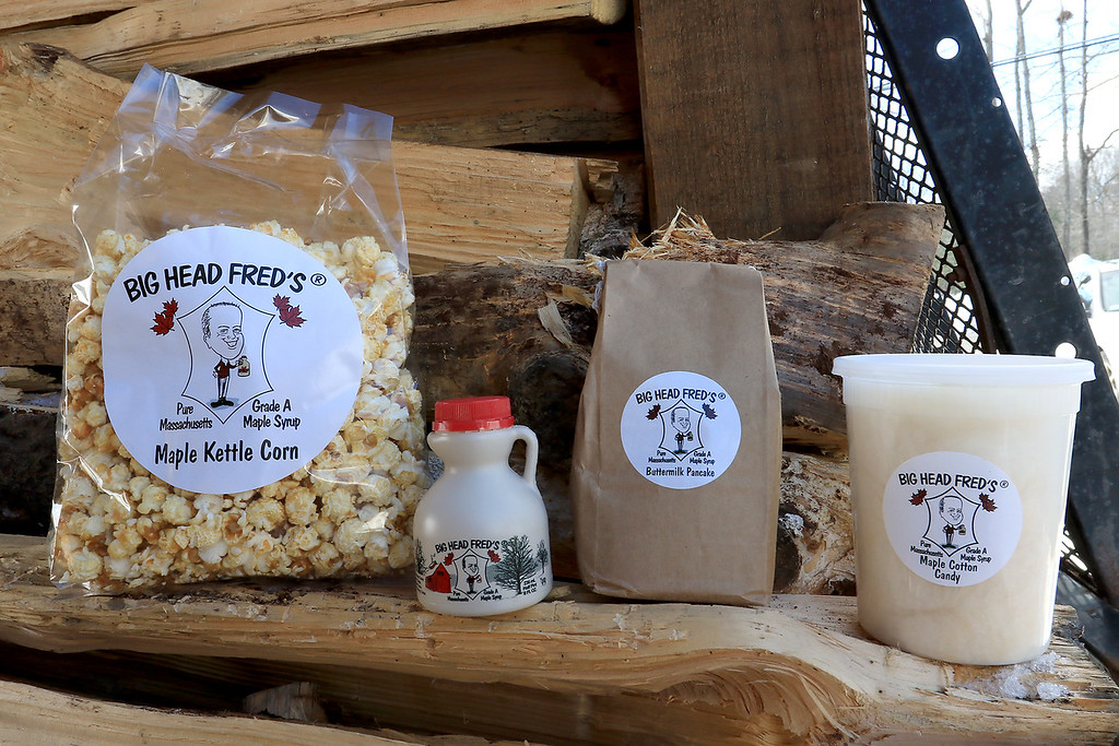 . Big Head Fred\'s Maple Syrup in Leominster was boiling syrup at their sugarhouse for the first time this year on Sunday, March 3, 2019. Fred\'s makes maple kettle corn, maple candy, maple as well syrup.SENTINEL & ENTERPRISE/JOHN LOVE