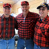 Big Head Fred's Maple Syrup in Leominster was boiling syrup at their sugarhouse for the first time this year on Sunday, March 3, 2019. Owner Fred Lake, center, stands with his employees David Thibodeau, left, and Norman Ducharme at the sugarhouse during their first boiling of the season.  SENTINEL & ENTERPRISE/JOHN LOVE