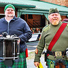 Drummer and bagpiper