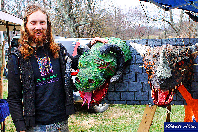 Creative dragon wall mounts by Aisling Mac Tyre