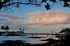 Walking bridge to Coconut Island on Hilo Bay at sunset (Photo credit: Jerry Leggett, ©2009, All rights reserved)