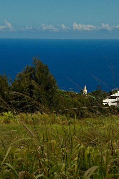 A View of the town of Honoka'a and the Hamakua coast. (Photo credit: Jerry Leggett, ©2010, All rights reserved)