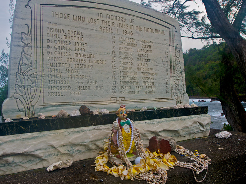 """Lost But Not Forgotten"" - A tribute to those who lost their lives in the Tidal Wave of April 1, 1946, Lauphoehoe, HI  (Photo credit: Patsy Ferrell, ©2009, All rights reserved)"