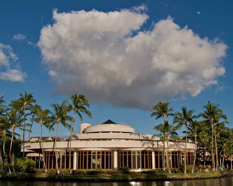 Clouds over the Waikoloa Hilton Resort (Photo credit: Jerry Leggett, ©2010, All rights reserved)